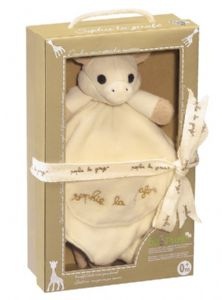So Pure Sophie la girafe Comforter with soother holder